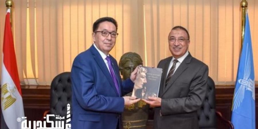 """""""محافظ الإسكندرية"""" يستقبل سفير دولة """" كازاخستان"""" لبحث توطيد العلاقات بين البلدين"""