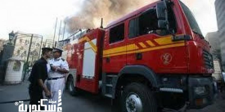 الأدلة الجنائية تعاين حريق شركة الإسكندرية للبترول