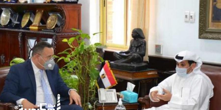 جامعة الإسكندرية تستقبل الملحق الثقافي الكويتي لتنمية العلاقات مع الدولة  الشقيقة