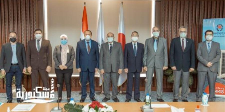 """لبحث التعاون بين الجانبين وفد"""" المعهد القومي لعلوم البحار"""" يزور الجامعة اليابانية ببرج العرب"""