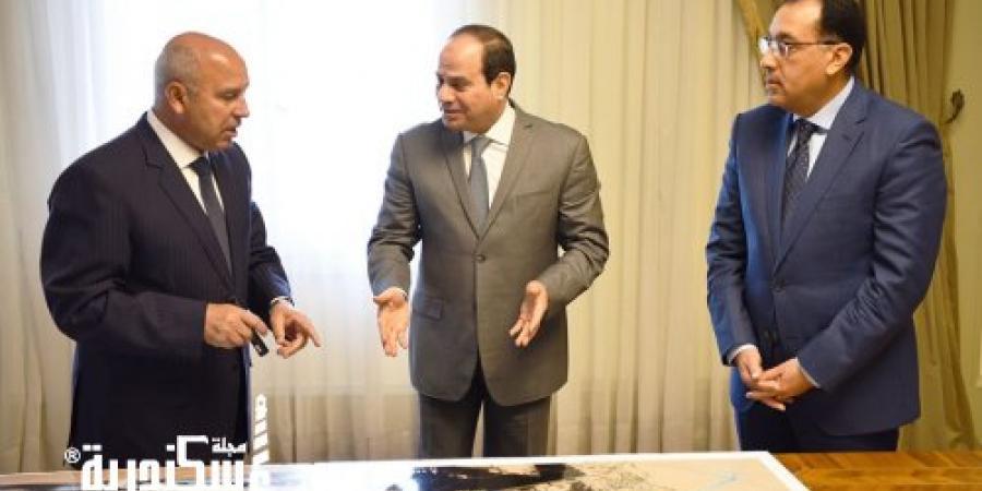 """"""" السيسي """" يوجه بإنشاء ميناء «المكس» ما بين مينائي الإسكندرية والدخيلة"""