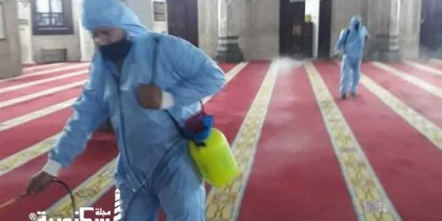 أوقاف الإسكندرية... تعقيم ورش المساجد قبل وبعد الصلوات لمواجهة فيروس كورونا