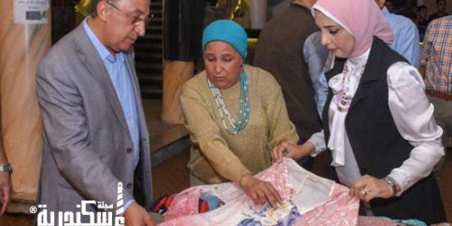 بالتعاون مع المجتمع المدنى محافظ الإسكندرية يفتتح المعرض الخيرى المجانى