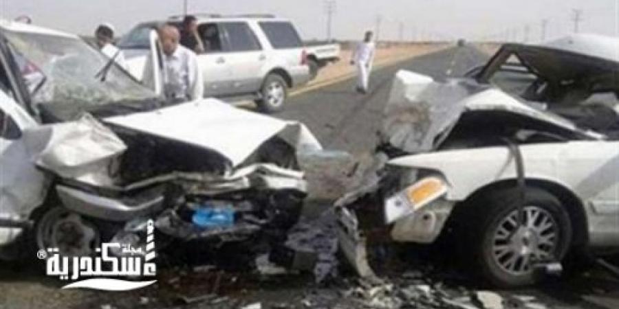 إصابة 5 أشخاص في تصادم 5 سيارات بالطريق الصحراوي غرب الإسكندرية